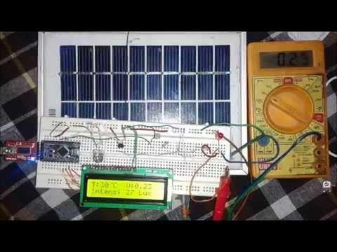 Solar Panel Parameters Monitoring Using Arduino: Circuit Diagram