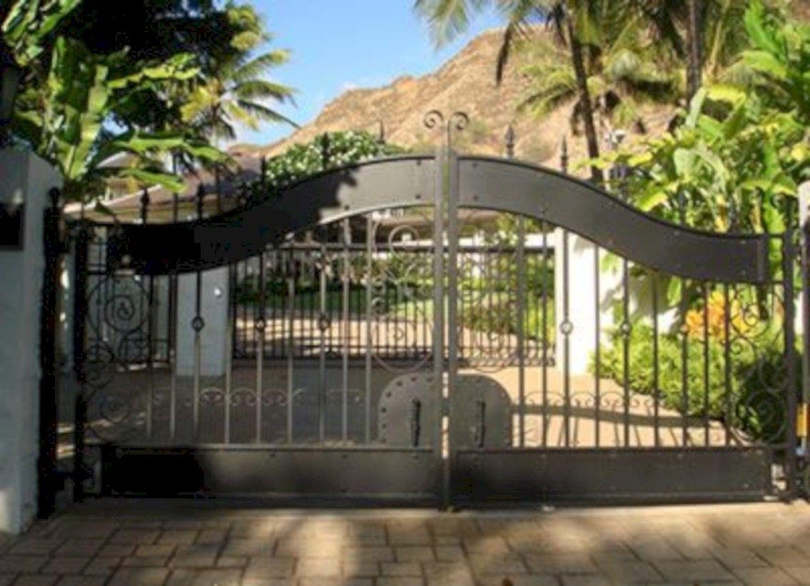 Outdoorküche Stein Gate : Beautiful automatic driveway gate ideas