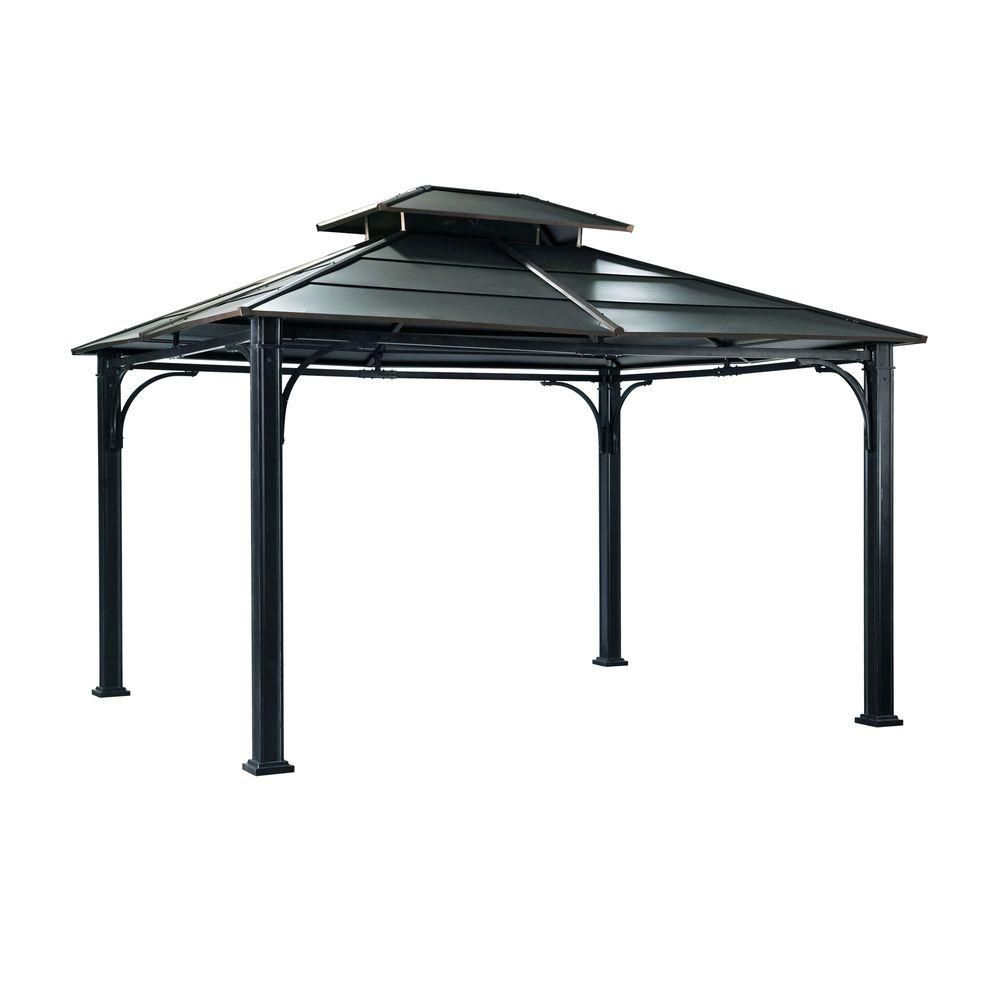 Wonderland 12 Ft X 10 Ft Black Steel Gazebo Blacks Steel Gazebo Gazebo Outdoor Gazebos
