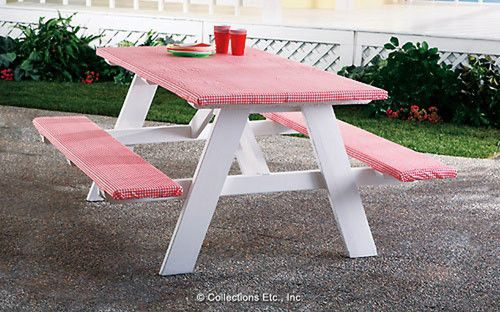 Picnic Table And Bench Covers Set | Bench covers, Picnic tables and ...