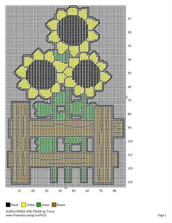 "Chunky Cross Stitch Coaster Mat 15x15cm/""Sunflowers/"""