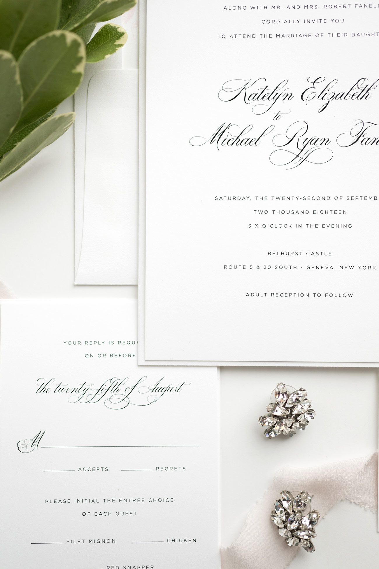 Elegant Wedding Invitations in Light Pink | Romantic wedding ...