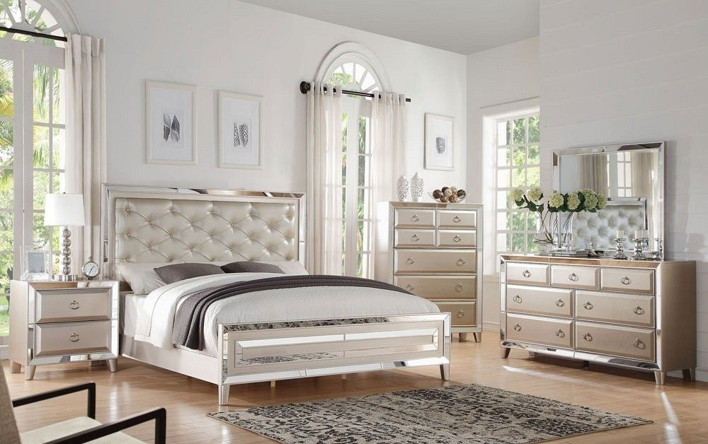 cheap mirrored bedroom furniture rectangle shape mirrored