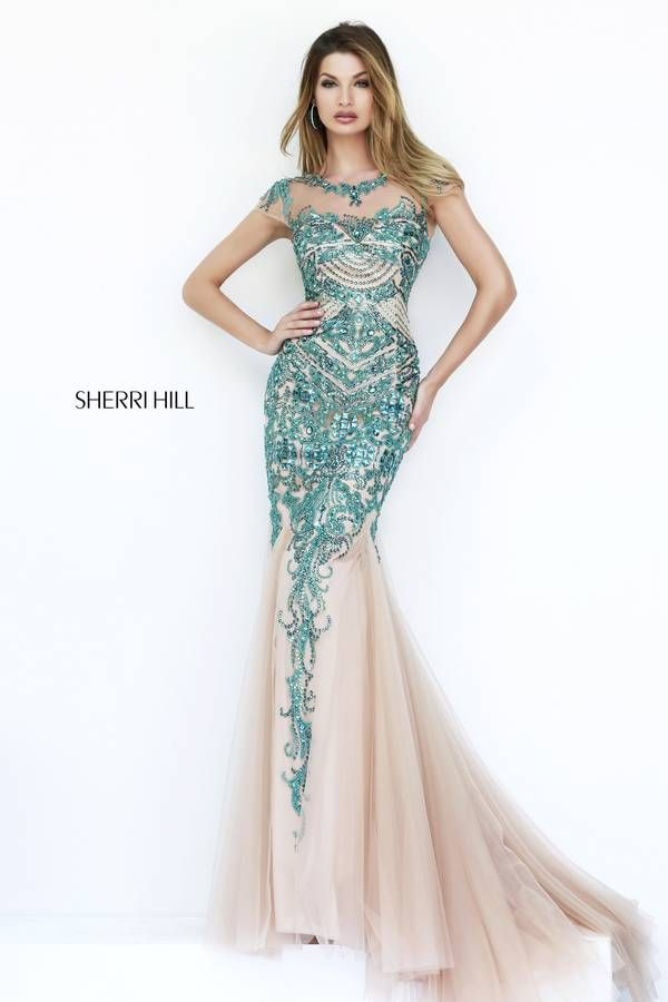 Sherri Hill stunning beaded gown perfect for prom, pageant, or ...