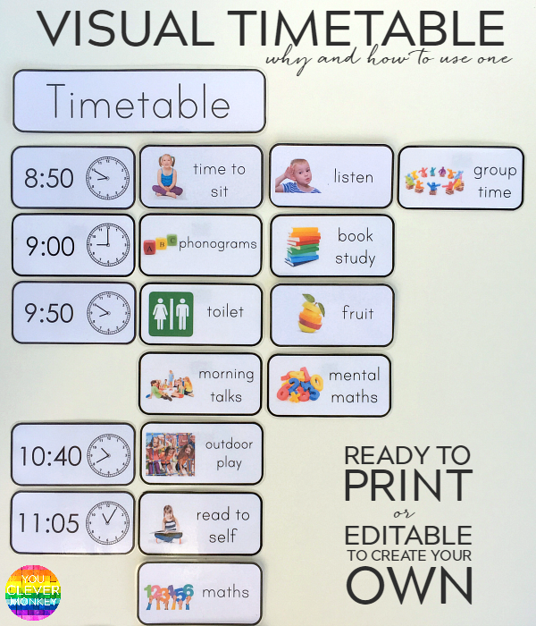 Why And How To Use Visual Timetable Effectively Visual Timetable Preschool Schedule Eyfs Classroom