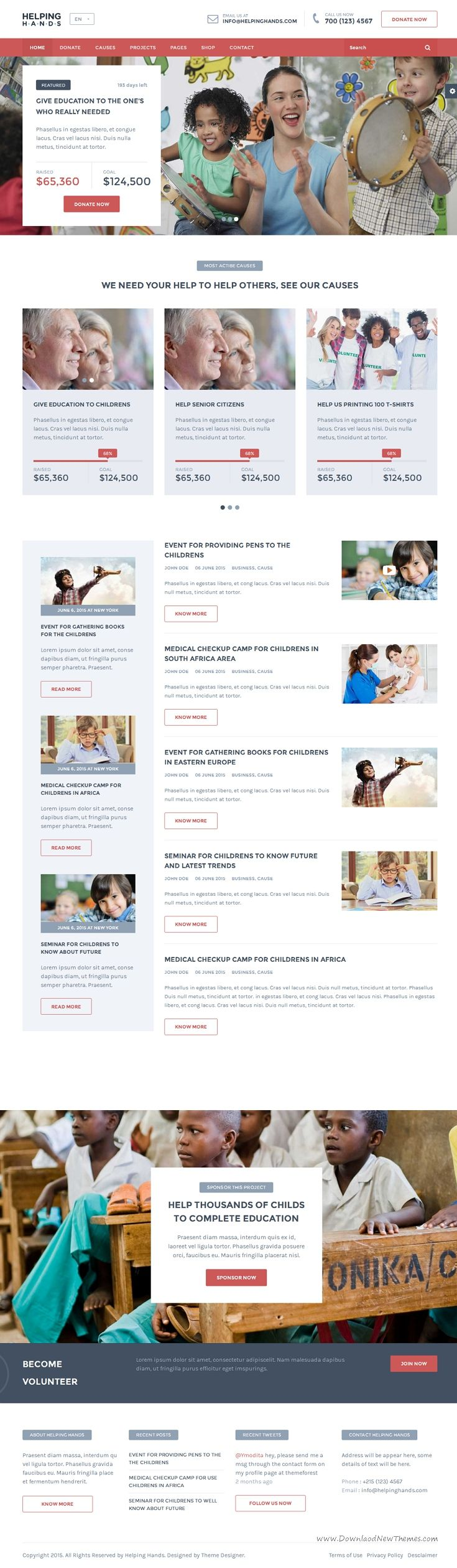 Helping Hands - Charity / NonProfit / Fund Raising HTML Template ...