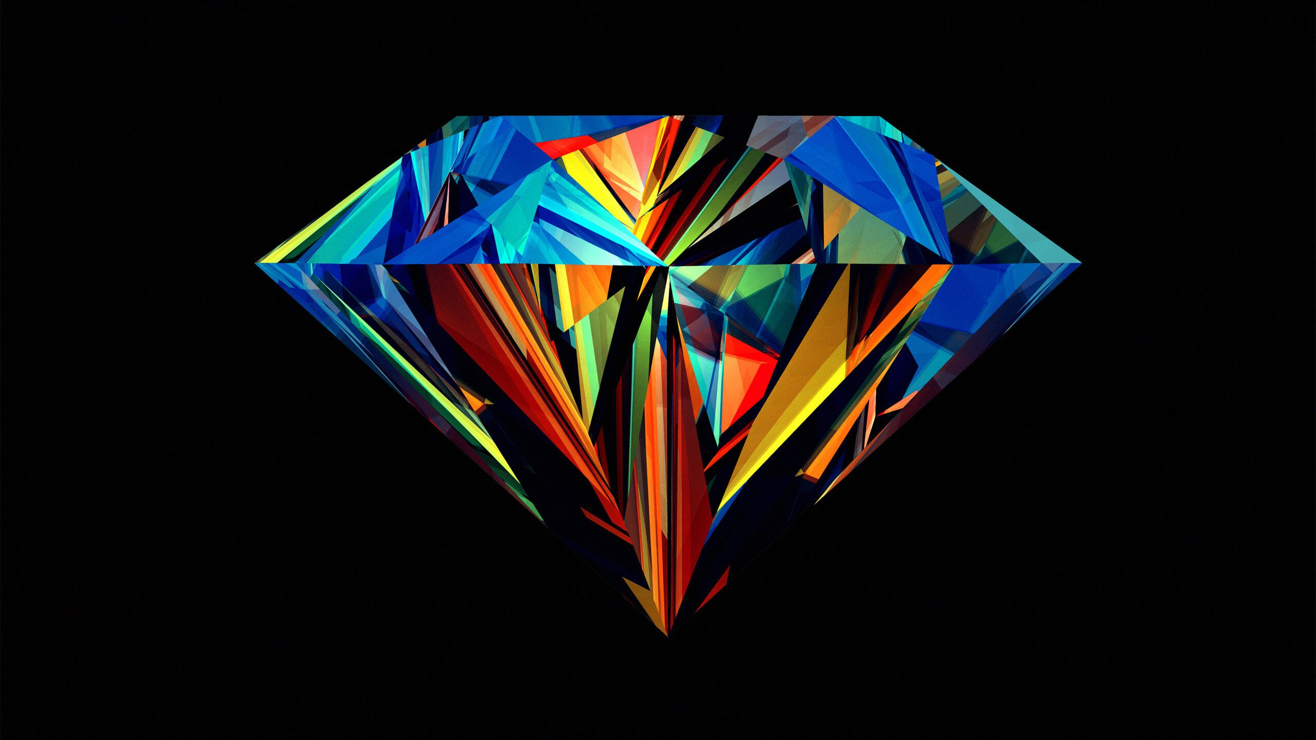 2560x1440 Colorful Diamond Hd Wallpaper For Youtube Channel Art