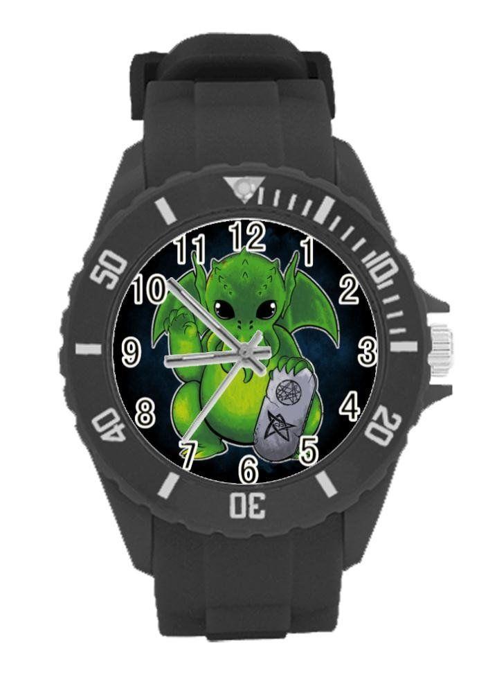 "suofeiteyin Lucky Cthulhu Custom Plastic Watch Black For Kids Christmas Gift. Width (watch): 1.18"". Length (whole watch): 9.45"". Designed for fashion kids, stylish and personalized. Medium custom black plastic watch. strap and hard plastic watch winder. Best For Christmas Gift."