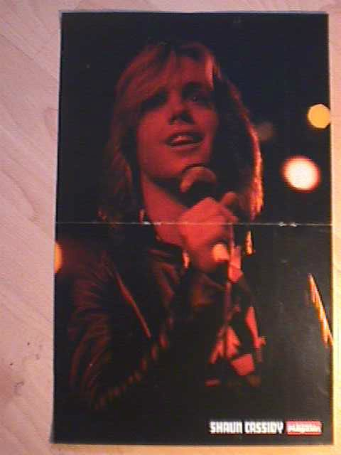 1 german poster SHAUN CASSIDY NOT SHIRTLESS LIVE SINGER BOY