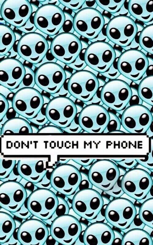 Image Via We Heart It Aliens Blue Phone Wallpapers Don