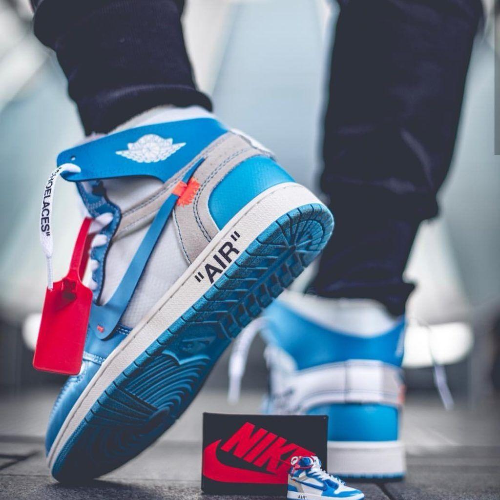 Nike X Offwhite Air Jordan 1 Sneaker Keychain Blue By Chromosole Sneakers Men Fashion Sneakers Blue Sneakers