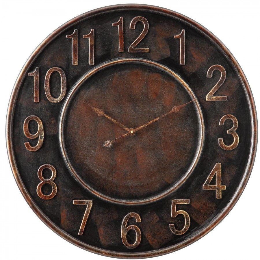 Cooper Classics Kirk Wall Clock In Distressed Aged Copper 4968 Wall Clock Vintage Wall Clock Black Wall Clock