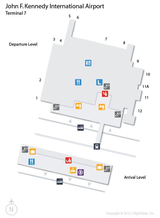 JFK) John F. Kennedy International Airport Terminal Map ...