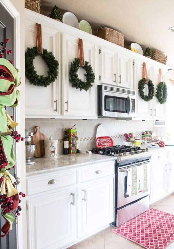 48+ Ideas for decorating kitchen cabinets for christmas inspirations