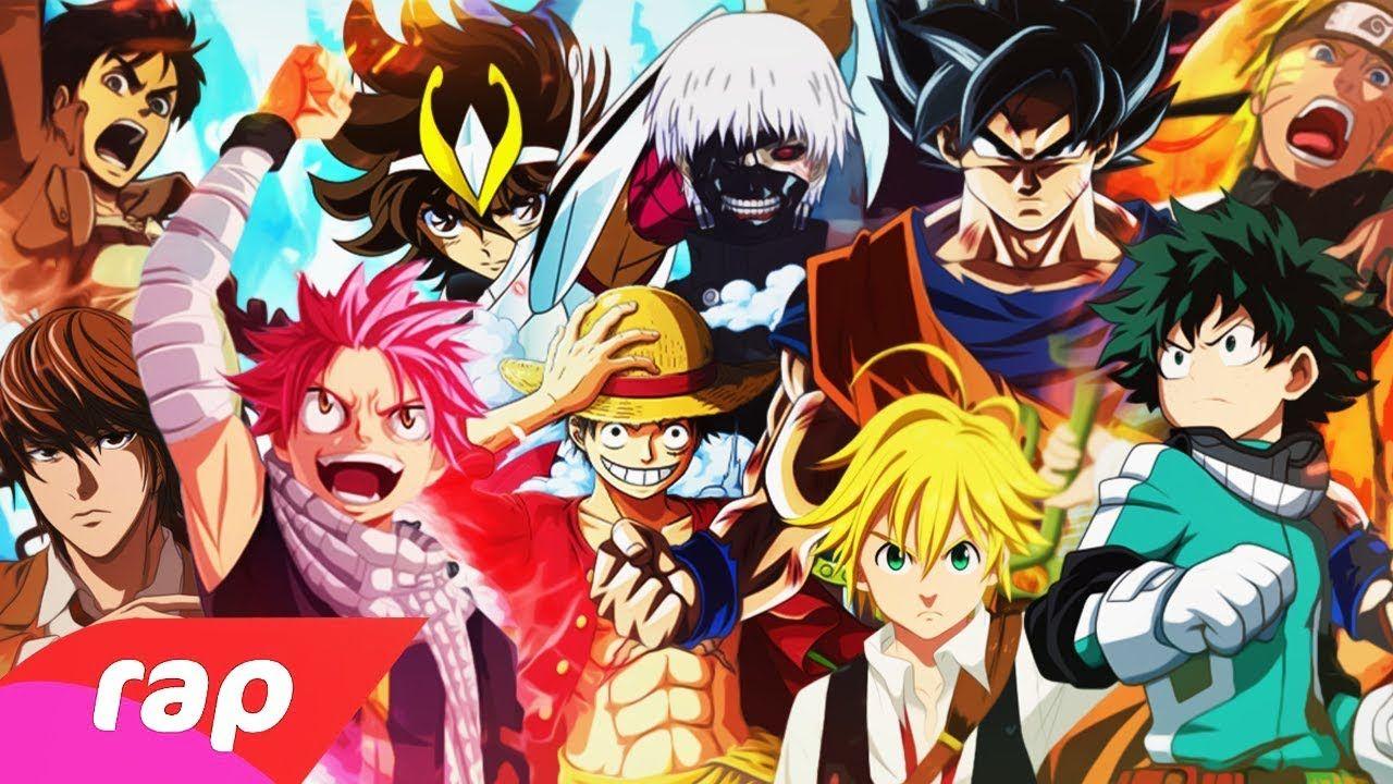 Animes No Topo Rap Goku Naruto Luffy Seiya Kira Midoriya