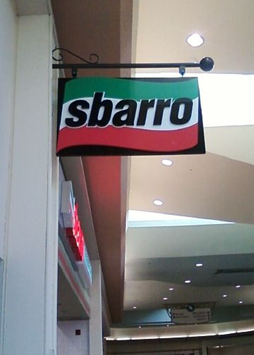 Custom cabinet sign for Sbarro restaurant#Sbarro#Custom#Cabinet#Sign#pizza#mall