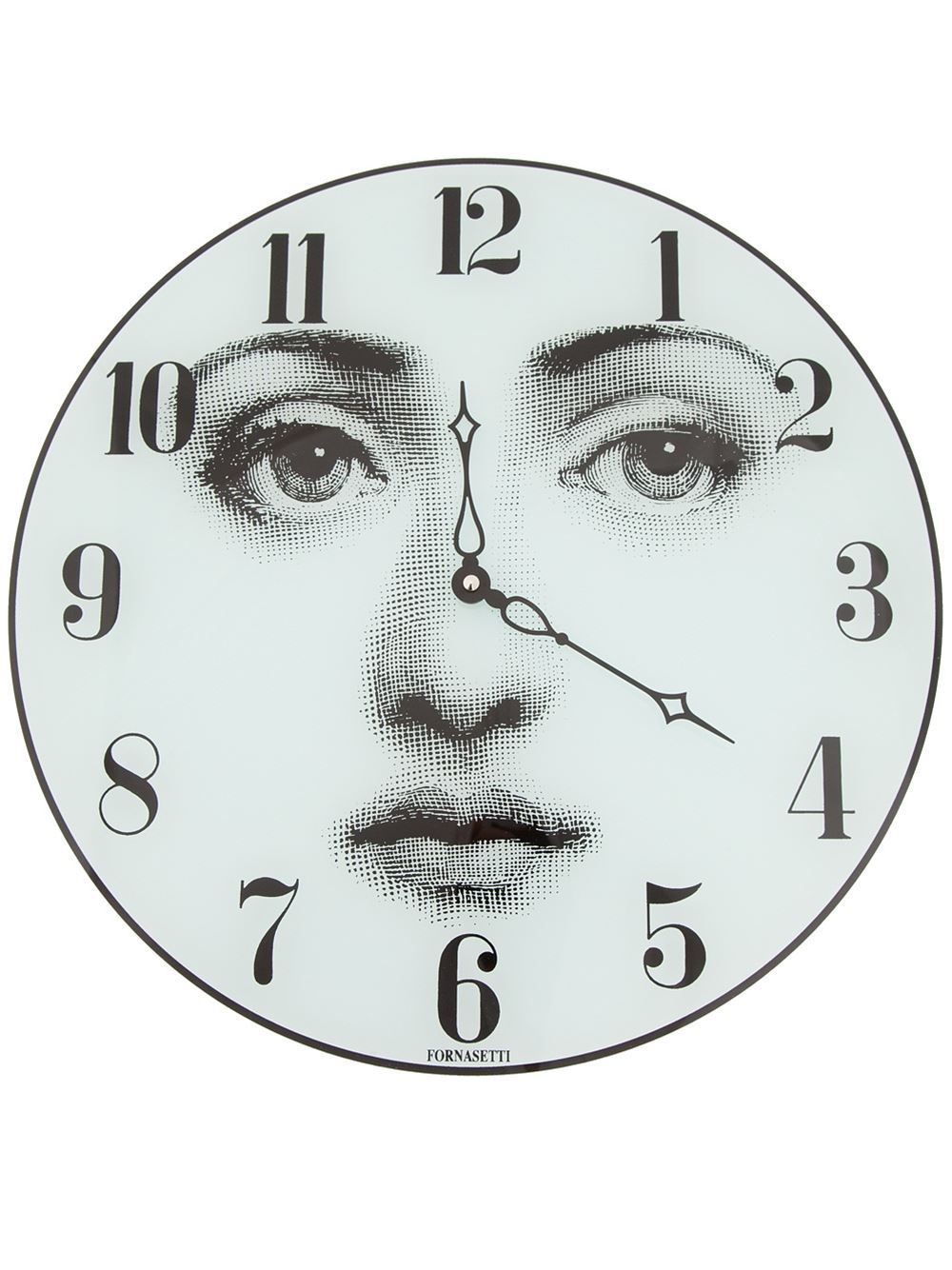 Fornasetti Face Printed Clock Farfetch Printed Clocks Clock Fornasetti