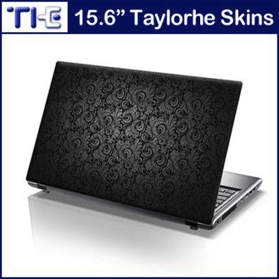 "15.6/"" Laptop Skin Cover Sticker Decal Elegant Vintage Paisley Pattern Grey 217"