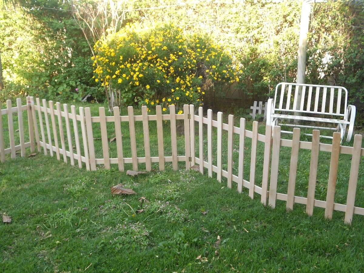Reja de madera para jard n pallets pinterest for Rejas de madera