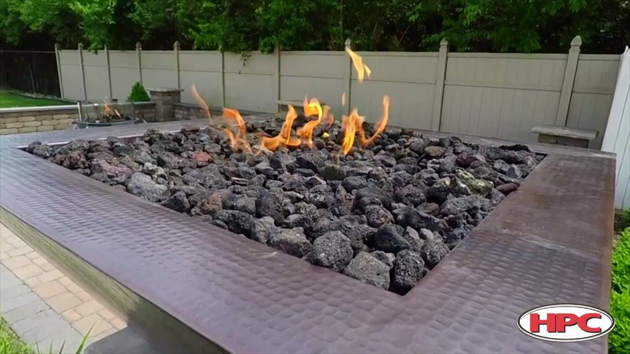 Outdoor Fire Pit Lava Rock Fire Pit With Rocks Glass Fire Pit