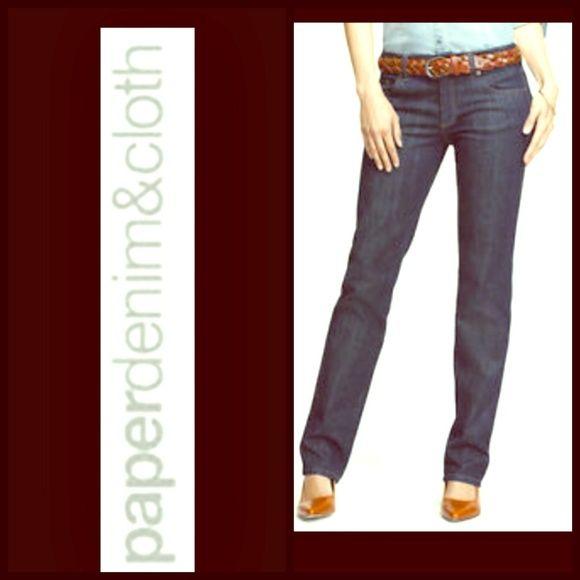 Paper denim & cloth jeans Straight leg slight distress on pockets 98% cotton 2% elastane inseam 32 rise 8 waist 14 leg opening 7 excellent condition paper denim & cloth Jeans