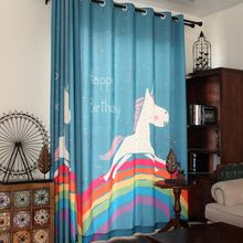 Kids Bedroom Curtains Alluring New Cartoon Children Curtains Lovely Rainbow Horse Print Kids Design Ideas
