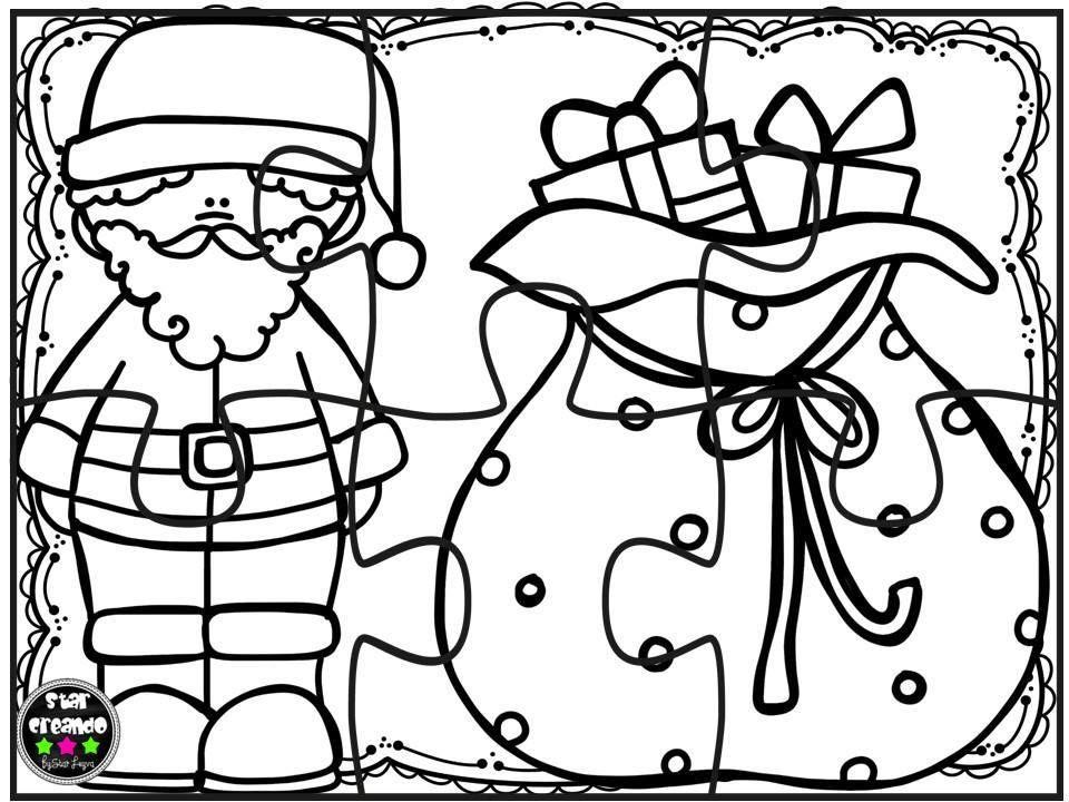 Puzzles navidad para colorear (2) | Navidad | Pinterest | Colorear ...