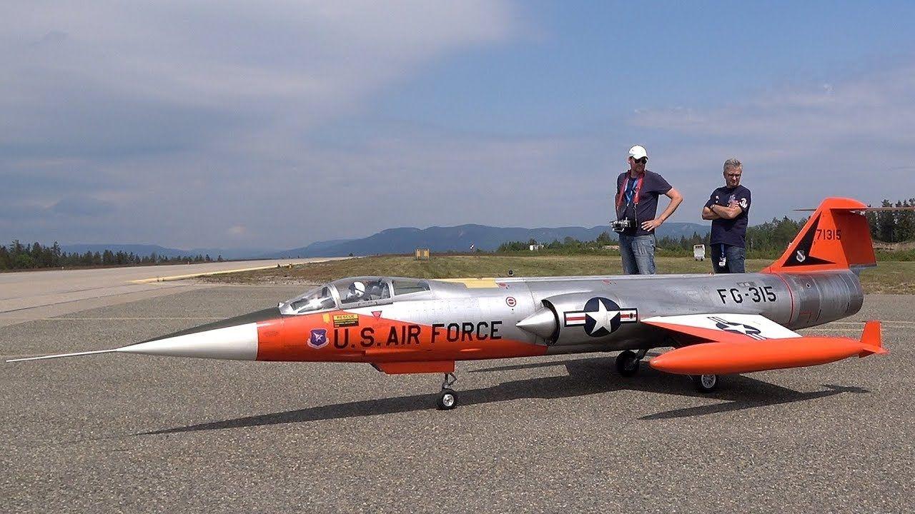 XXXL RC F104 STARFIGHTER FLIGHT DEMO YouTube