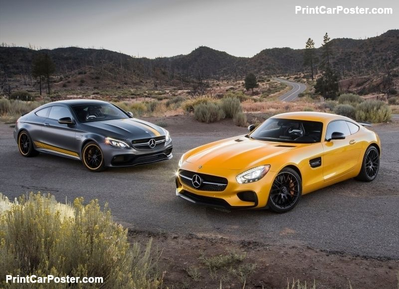 Mercedes-Benz C63 AMG Coupe Edition 1 2017 poster | Mercedes-AMG ...