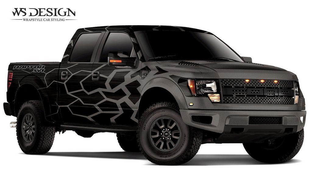 Raptor Black Brush Anthracite 07 Car Wrap Cars