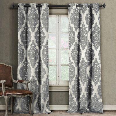 fancy plush design moorish tile curtain. Damask Grommet Curtain Panel  Joss Main 83 25 95 Baby room