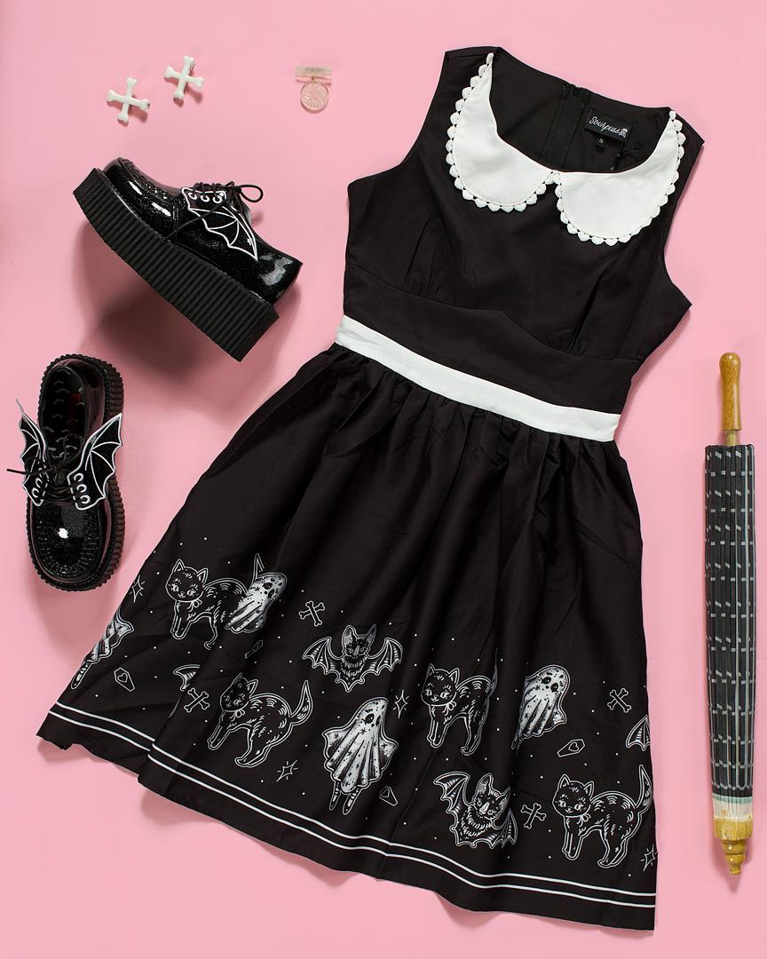 SOURPUSS SO CUTE ITS SPOOKY SHIFT DRESS #spookyoutfits