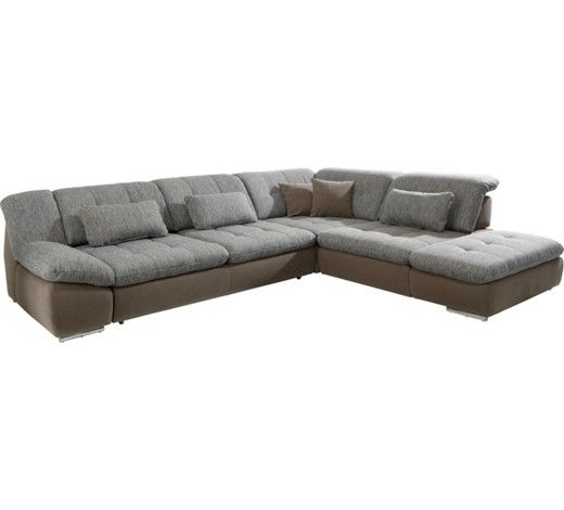 Ecksofa Webstoff Rucken Echt Chromfarben Schlammfarben Modern Textil Metall 311 250cm Carryhome Sectional Couch Couch Furniture