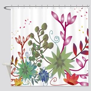 Lyingcat Mug Succulent Art Curtains Floral Flowers