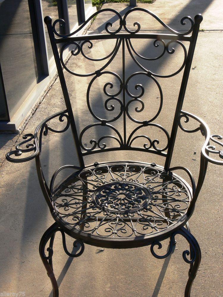 Wrought Iron Outdoor Furniture Ebay Ukrashenie Iz Kovanogo Zheleza Dekor