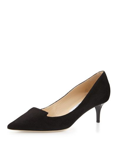 25cbd71e1c2 JIMMY CHOO ALLURE SUEDE KITTEN-HEEL PUMP