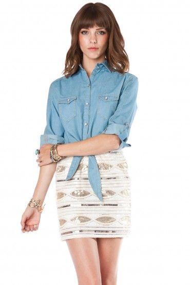 Perry sequin mini skirt