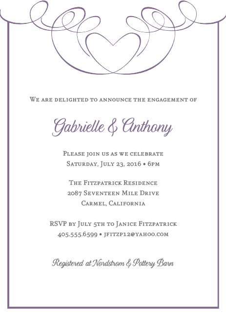 best create own engagement party invitation wording ideas