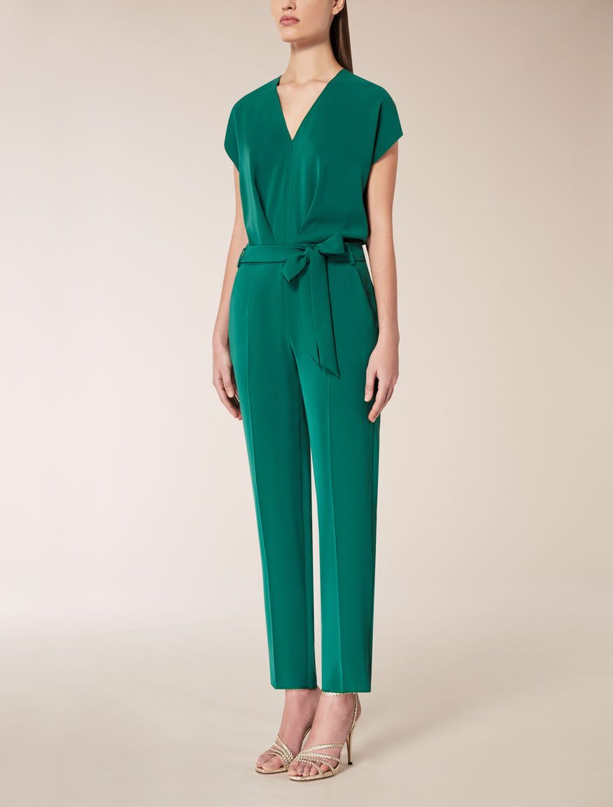 33d0e4f6376b Max Mara FRAGORE green: Cady jumpsuit. Find your outfit on the Official Max  Mara Website and discover all that is new in ready-to-wear.