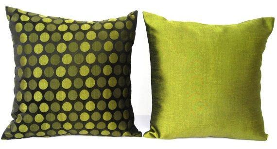 olive green pillows. SALE Olive Green Pillow, Throw Pillow Cover, Silk , Pillows O