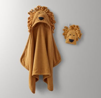 Rh Baby Amp Child 39 S Animal Hooded Towel Amp Bath Mitt Child With Faces Sewn To Resemble A Cast Of Be Hooded Baby Towel Hooded Towel Cute Baby Clothes