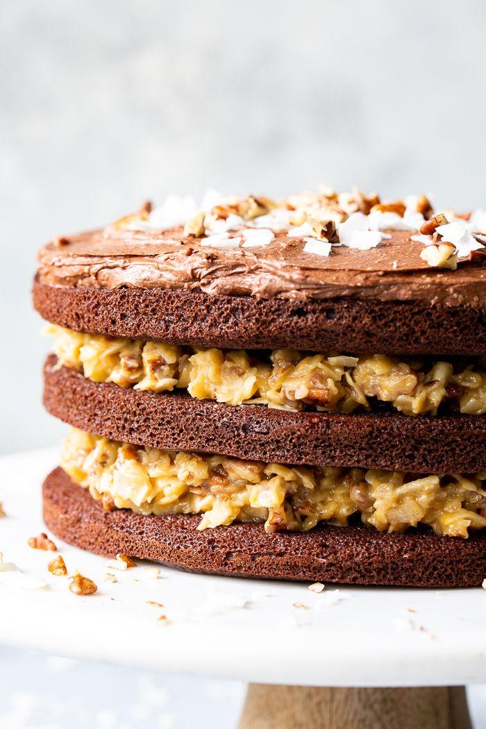 German Chocolate Cake {Paleo, GF, DF}