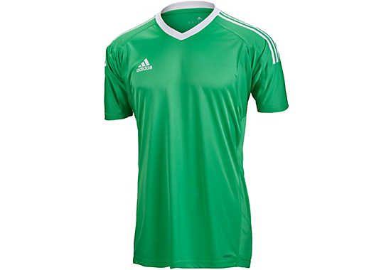 Green adidas Revigo 17 Short Sleeve Goalie Jersey. Hot at www.soccerpro.com 915e7c48f
