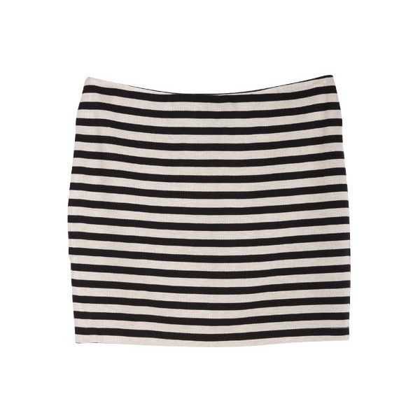 Stripe Body Con Skirt ($17) ❤ liked on Polyvore