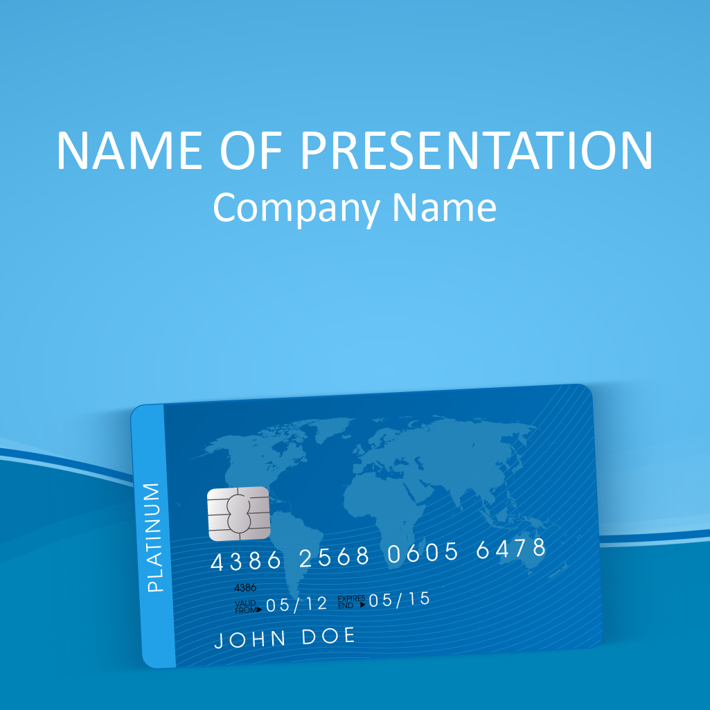 Credit Card Powerpoint Template Powerpoint Templates Powerpoint Templates
