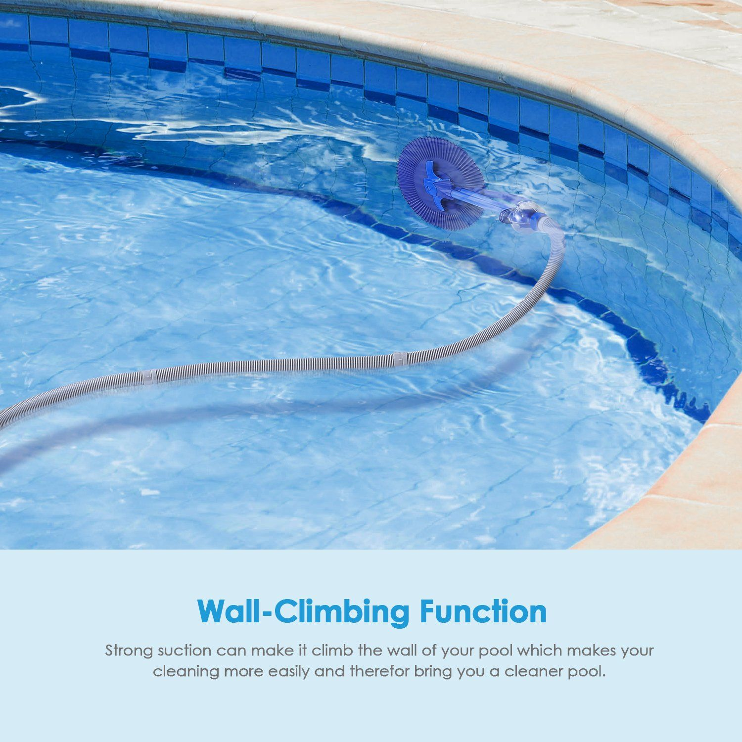 Intey Pool Cleaner Automatic Suction Pool Vacuum Pool Cleaning
