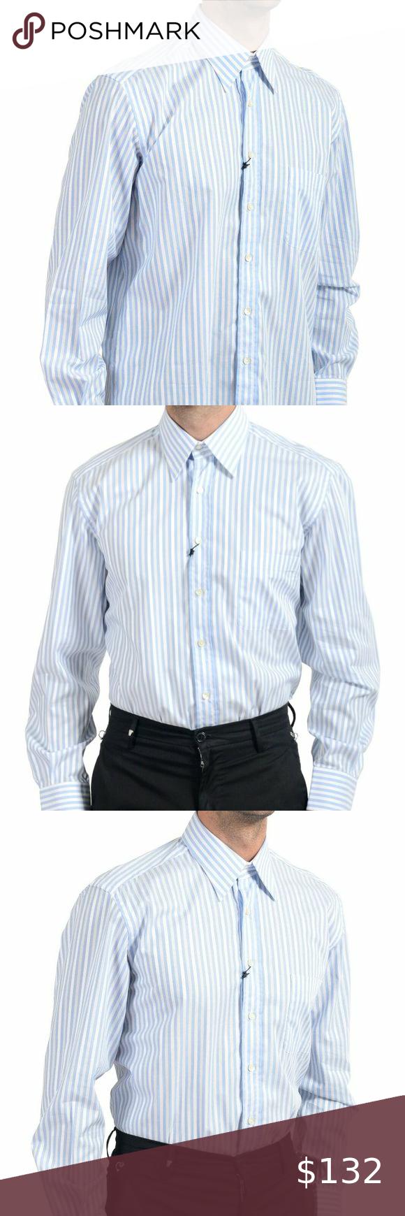 Dolce Gabbana Men S Striped Dress Shirt Mens Shirt Dress Dolce And Gabbana Shirts Shirt Dress [ 1740 x 580 Pixel ]