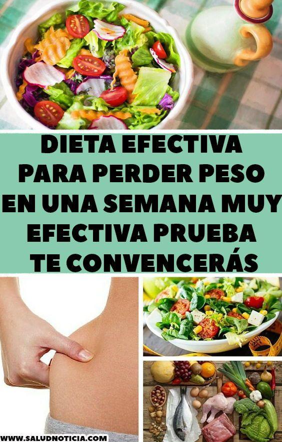 Dieta eficaz para perder peso en una semana