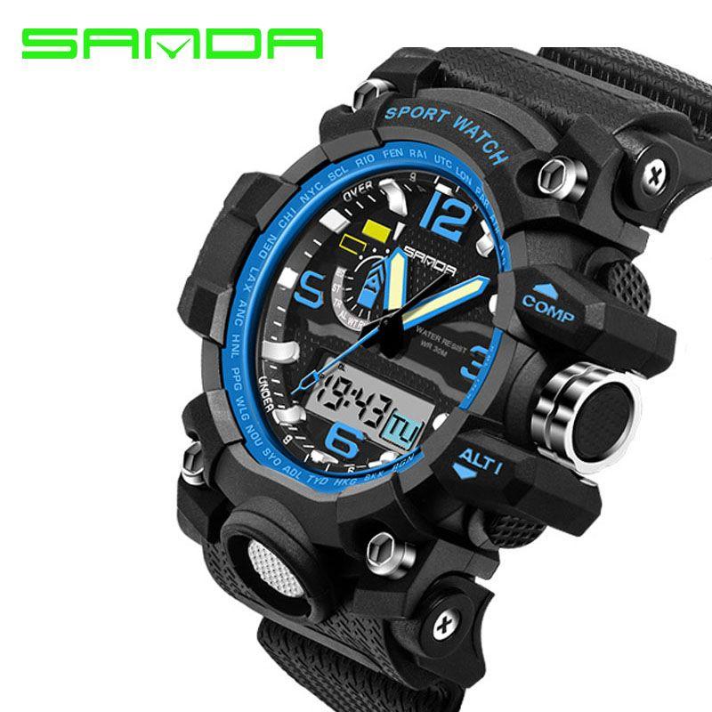 8d753eeb1b7 SANDA Luxury Brand Men Sports Watches Digital LED Military Watch Waterproof  Outdoor Casual Wristwatches Relogio Masculino
