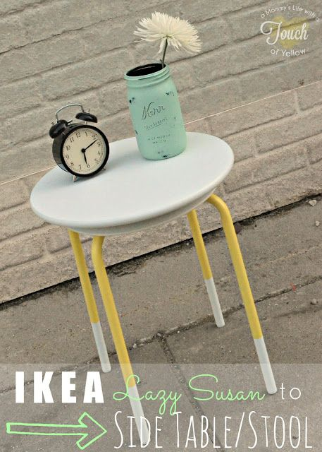 Ikea Lazy Susan Adorable Ikea Lazy Susan To Side Table Stool Ikea 10 Tutorial  A Mommy Inspiration Design